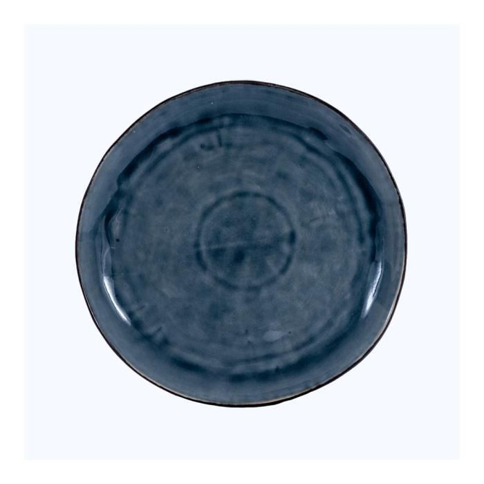 Assiette plate bleu pétrole - Diam 27 cm