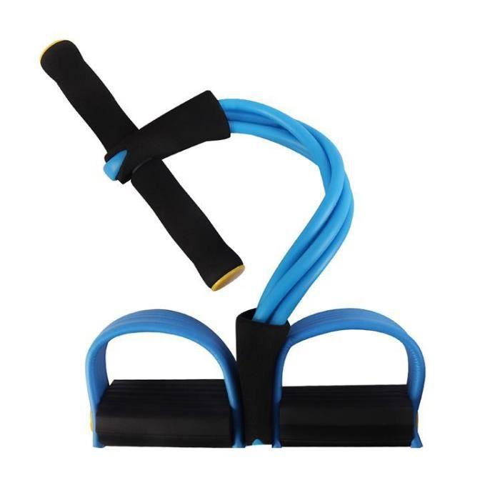 (Bleu)Rameur élastique à abdominaux Renforcez actions pour exercice de fitness et yoga LLQ-JDP