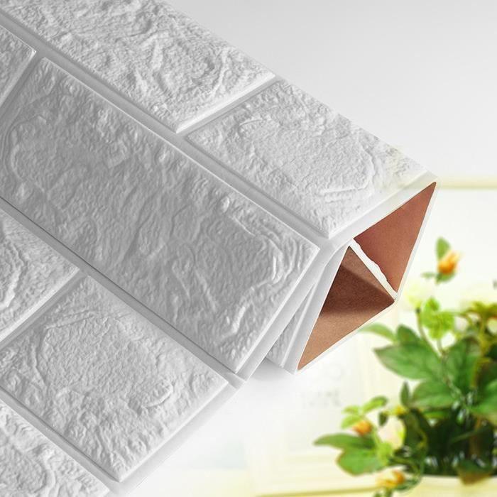 PE Mousse Papier Peint 3D DIY Stickers Muraux Décorations Murales Brique En Relief Blanc De Pierre