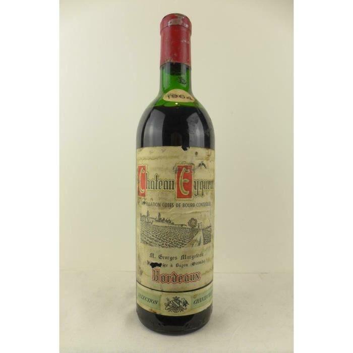 côtes de bourg château eyquem (capsule abîmée b3) rouge 1964 - bordeaux