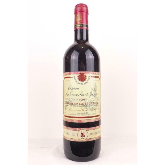 blaye château la croix saint-jacques fût de chêne rouge 1996 - bordeaux