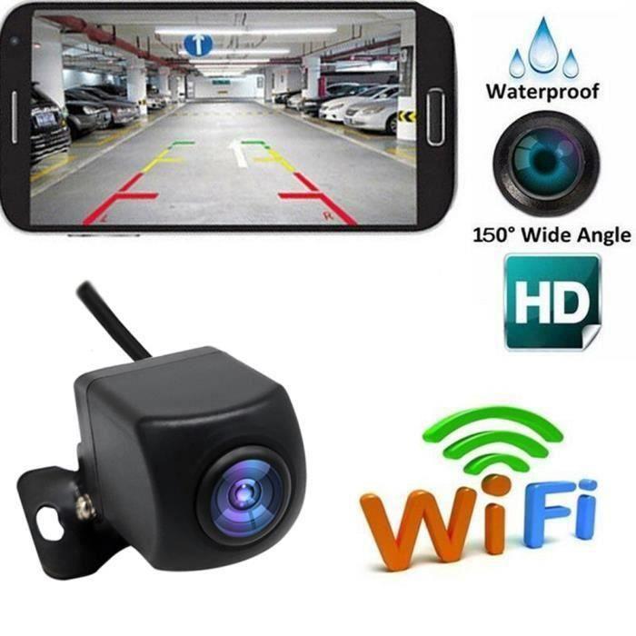 Caméra de recul sans fil HD WIFI Caméra de recul pour voiture, véhicules, Caméra de recul WiFi avec vision nocturne, Moniteur de r