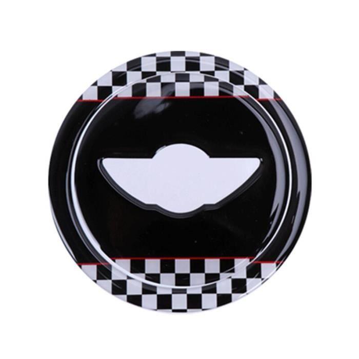 Black Checker -Autocollants de volant de voiture 3D ABS pour Mini Cooper Countryman JCW R55 R56 R60, accessoires de voiture