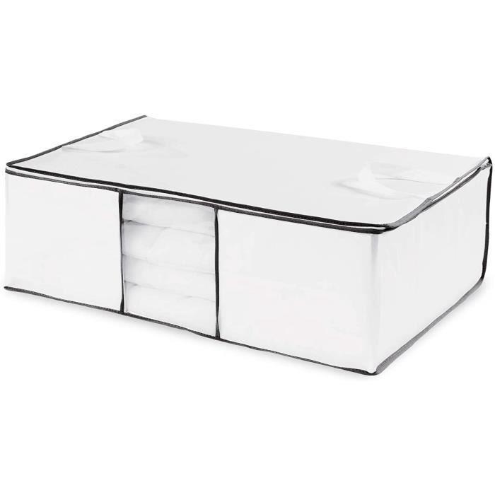 MEUBLE A CHAUSSURES Compactor World Housse de rangement sous vide, Blanc, 68,5 x 58,5 x H25,5 cm, RAN63348