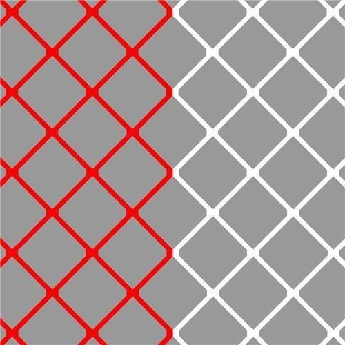 But de football P modèle net de 7,5 x 2,5 m (4 mm) rouge / blanc