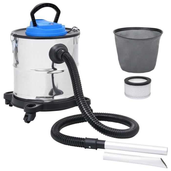 HOP Aspirateur à cendres et filtre HEPA 1200W 20 L Acier inoxydable 9386399130728