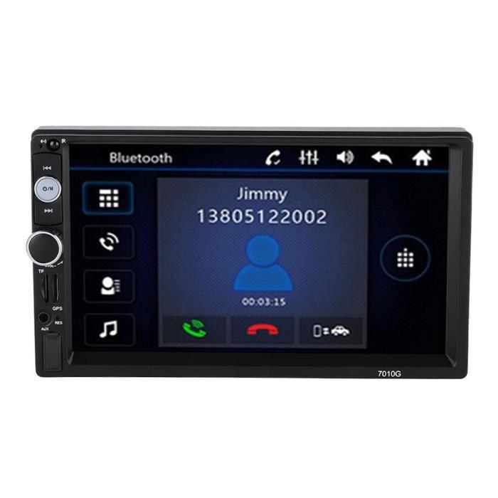 Dilwe GPS double DIN pour voiture 7 '2 Din autoradio multimédia antenne GPS Bluetooth voiture stéréo MP5 lecteur stéréo FM /