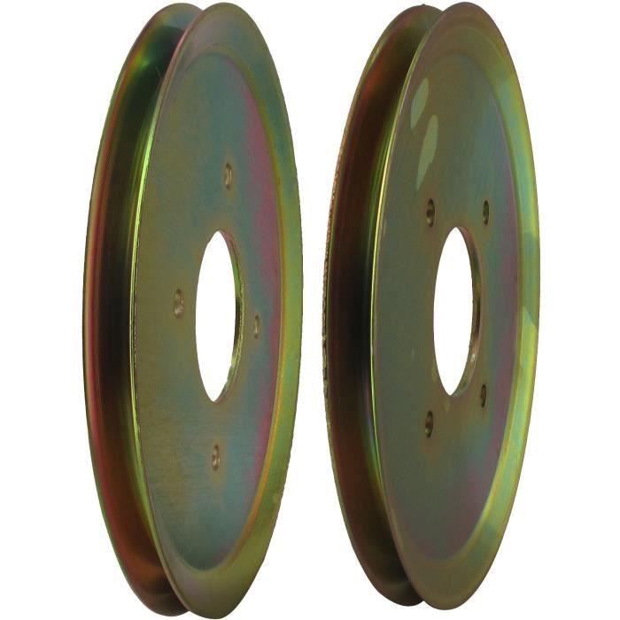Poulie d'entraînement de roue adaptable pour SCAG modèles 36-, 48-, 52- & 61- - H: 12,7mm, Ø: ext:203,2mm, Ø int: 57,15mm