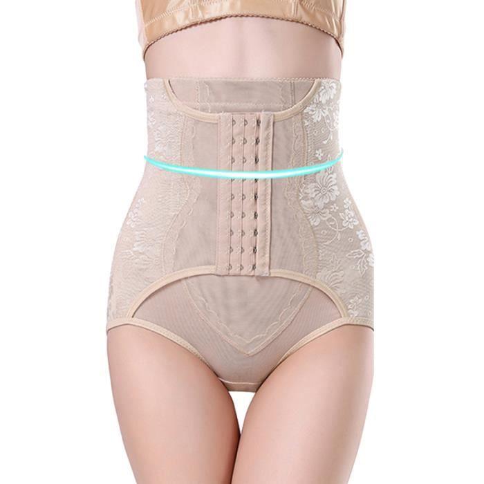 Culotte abdominale post-partum taille haute pour femme, contrôle du ventre, shaper TOP DE COMPRESSION - T-SHIRT DE COMPRESSION