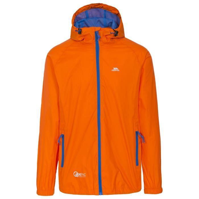 Trespass - Veste imperméable QIKPAC - Unisexe (Orange)