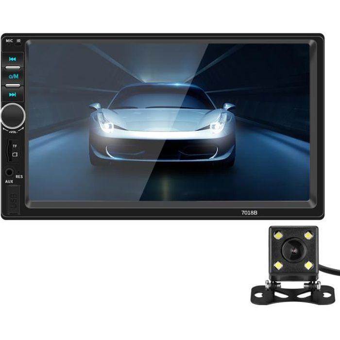 Autoradio Bluetooth 2 Din 7 -écran tactile Mains Libres Lecteur multimédia MP5 Stéréo de voiture FM