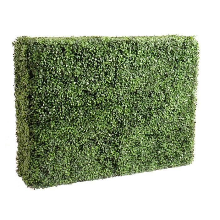 Plante artificielle haute gamme Spécial extérieur - Buis artificiel HAIE - Dim : 80 x 35 x 108 cm