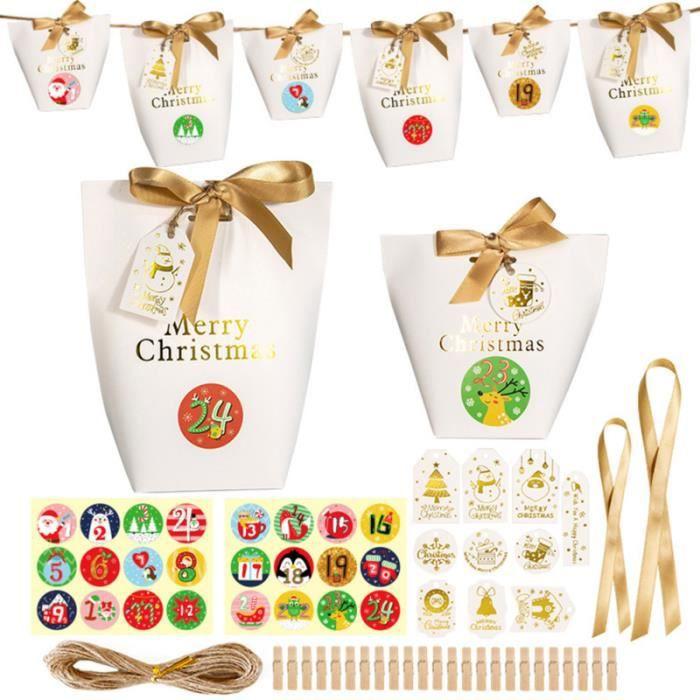 24 ensembles de boîtes d'emballage de Boîtes de Noël pratiques durables pour la soirée de bonbons cremeux confiserie chocolat