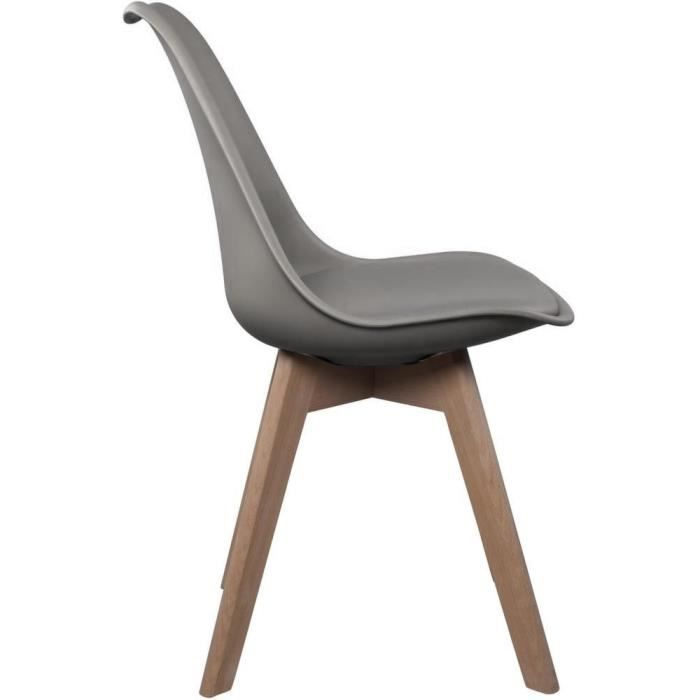 Chaise scandinave - Gris