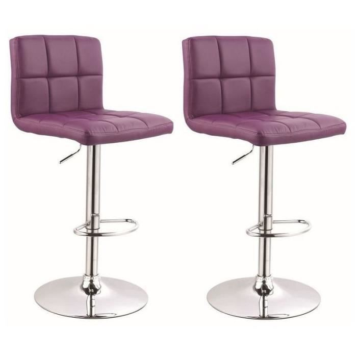 Tabouret de bar violet cdiscount for Housse de tabouret de bar
