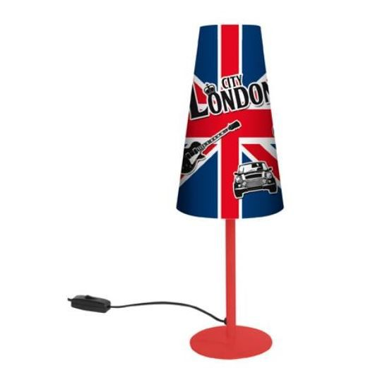 Londres lampe de chevet drapeau uk 38 cm achat vente for Lampe de bureau london