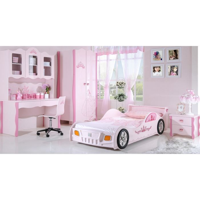 chambre enfant complete princesse avec lit voit achat. Black Bedroom Furniture Sets. Home Design Ideas