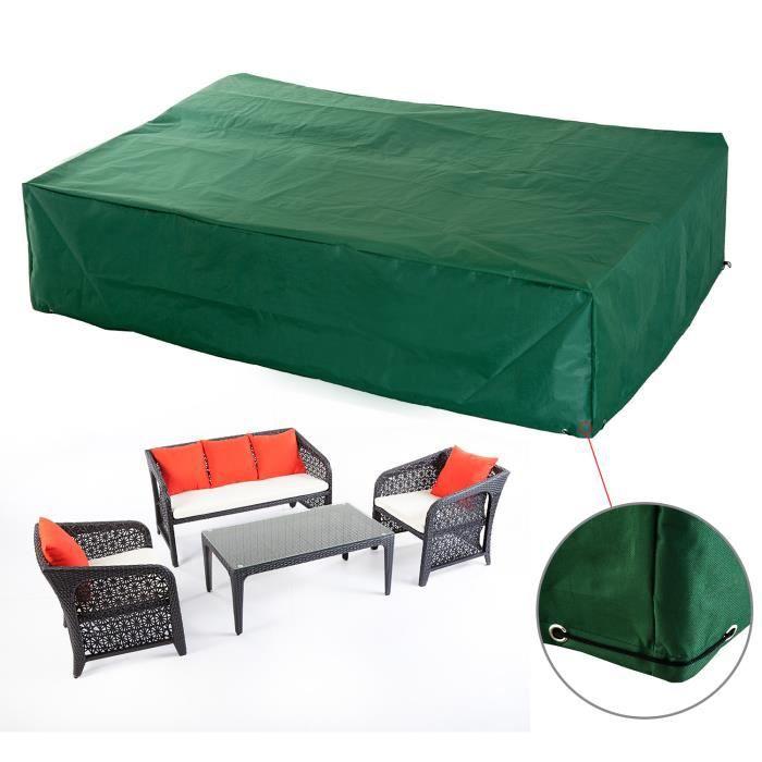 Housse de protection etanche pour meuble salon de jardin rectangulaire  245x165x55cm 79