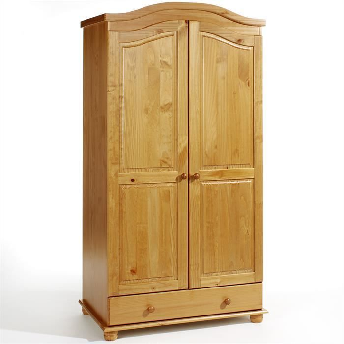 armoire en pin bergen lasur couleur miel achat vente. Black Bedroom Furniture Sets. Home Design Ideas