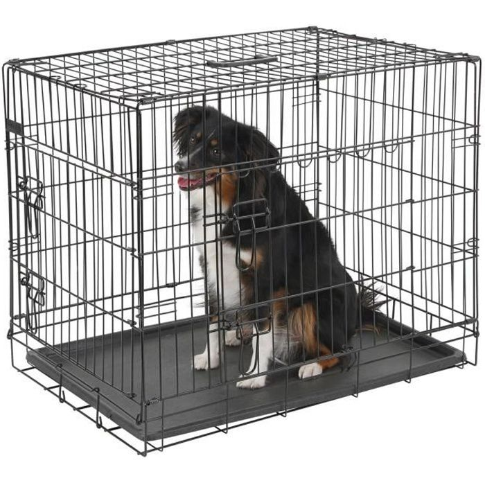 kerbl cage de transport pour chien 63x48x57cm noir 1 porte achat vente caisse de. Black Bedroom Furniture Sets. Home Design Ideas
