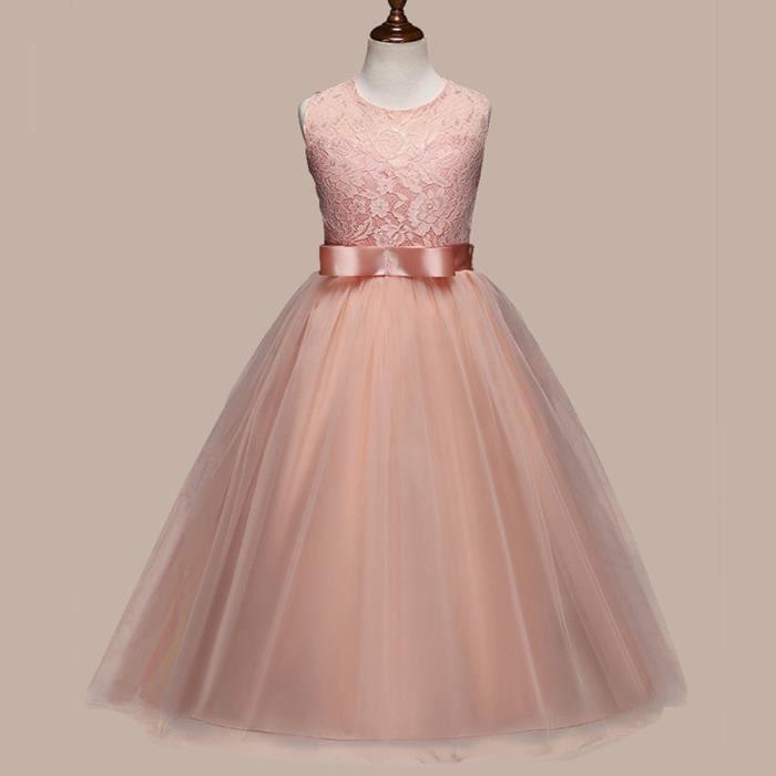 Pageant fleur fille robe enfants Anniversaire Mariage Demoiselle d/'honneur robe de formel robes