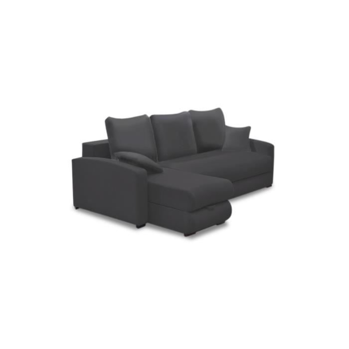 Canap lit d 39 angle caresso achat vente canap sofa for Canape lit d angle