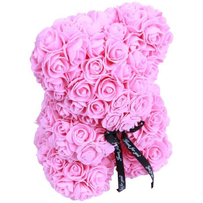Mousse Roses In A Hat Box Fleurs artificielles