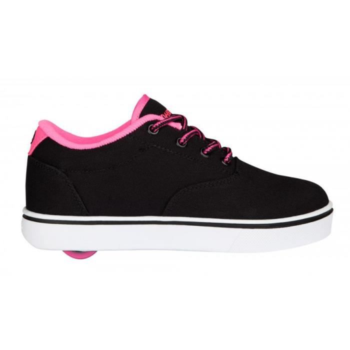 Heelys chaussure à roulette launch 771023 black neon pink white - Pointure 36,5