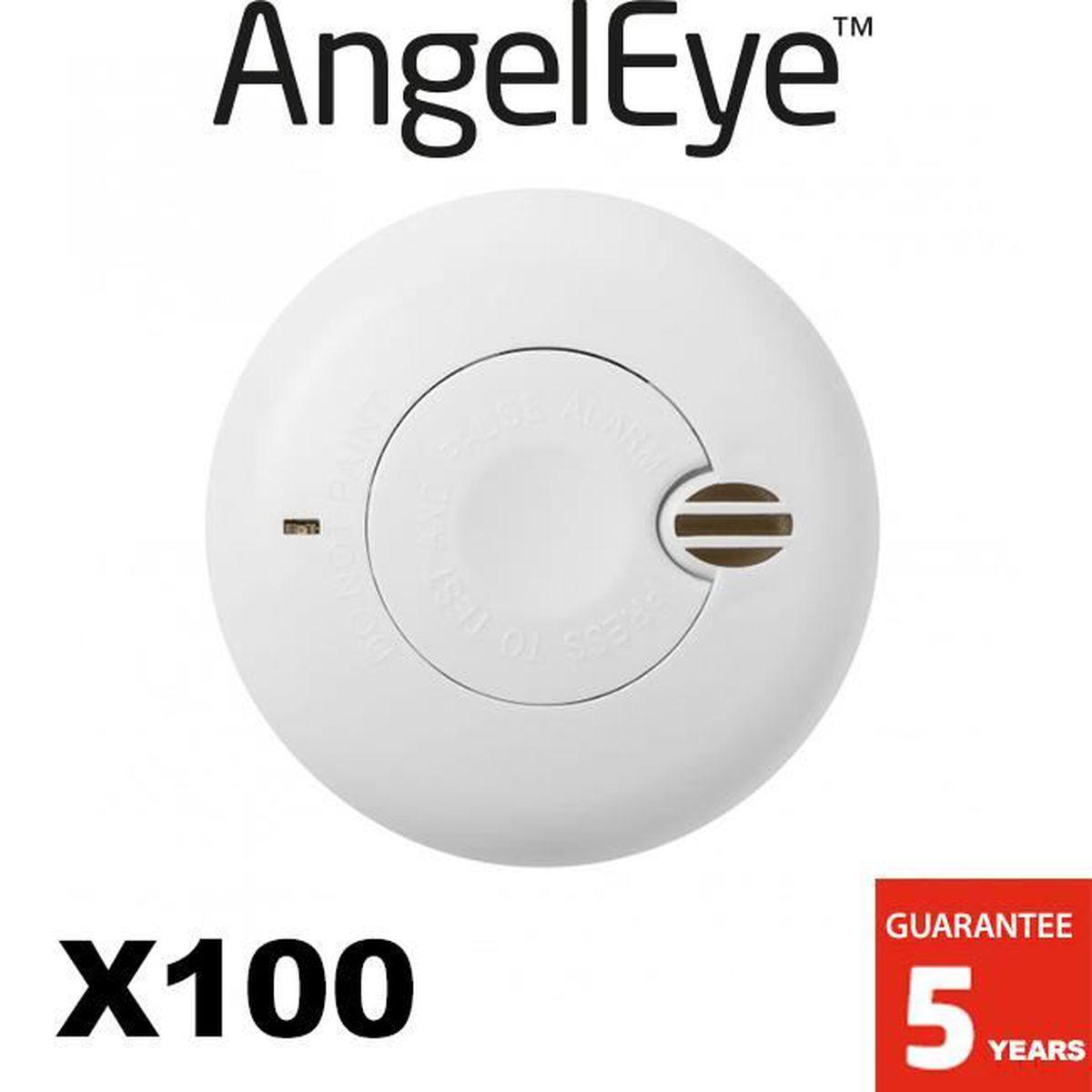ANGELEYE LOT de 6 D/étecteurs de fum/ée NF Autonomie 1 an - Garantie 5 ans ORIGINAL DUO SO-501-AE-FR 3 x 2 d/étecteurs