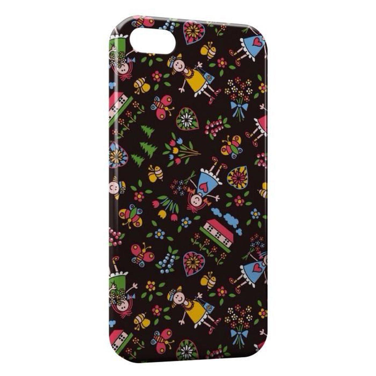 coque iphone 7 fleurs poupee