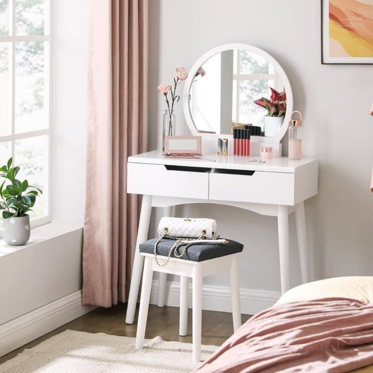 table maquillage achat vente table maquillage pas cher. Black Bedroom Furniture Sets. Home Design Ideas