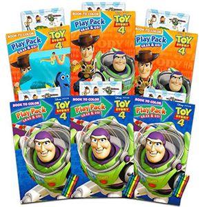 JEU DE COLORIAGE - DESSIN - POCHOIR Jeu De Coloriage XLXNK Pixar Toy Story 4 Party Fav