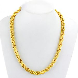 collier or massif homme