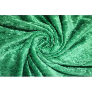 TISSU Tissu Panne de Velours Verte -Au Mètre