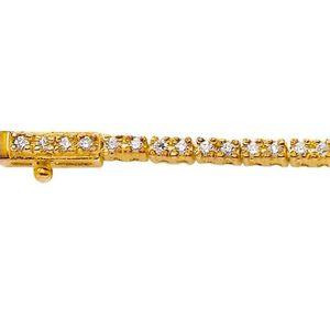 BRACELET - GOURMETTE MONTE CARLO STAR - Bracelet Riviere Or Jaune 18 Ca