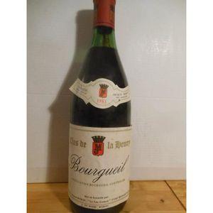 VIN ROUGE bourgueil jacques morin rouge 1983 - loire - toura