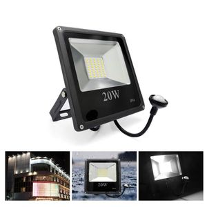 projecteur led exterieur 20w avec detecteur de mouvement achat vente projecteur led. Black Bedroom Furniture Sets. Home Design Ideas