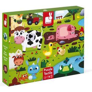 PUZZLE Puzzle tactile géant : La ferme aille Unique Color