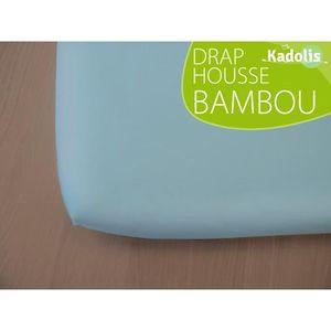 pour lit B/éb/é 60 x 120 cm Rose poudr/é Kadolis Drap Housse Green CLIM