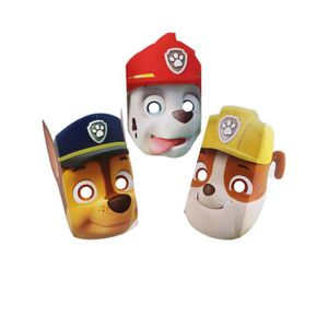 MASQUE - DÉCOR VISAGE Lot de 8 Masques en carton Pat' Patrouille - Paw P