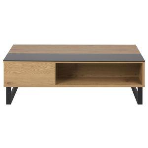 TABLE BASSE Miliboo - Table basse relevable en bois et métal W