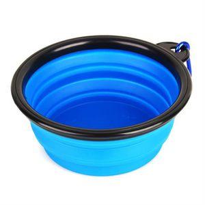GAMELLE - ÉCUELLE Bleu Ecuelle Gamelle Pour Chien Chat  Assiette Pli