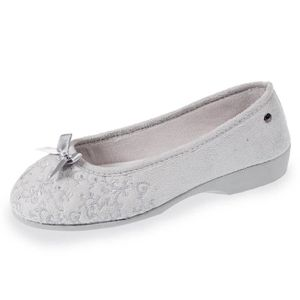 CHAUSSON - PANTOUFLE Chaussons ballerines talon femme broderies