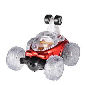 VOITURE ELECTRIQUE ENFANT rouge et bleu chariot stunt voiture camion à benne