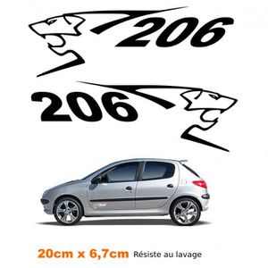 stickers pour peugeot 206 achat vente stickers pour peugeot 206 pas cher cdiscount. Black Bedroom Furniture Sets. Home Design Ideas