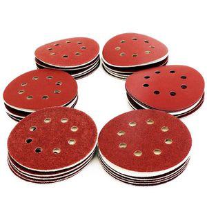 Lepik Lot de 100 disques abrasifs pour ponceuse excentrique /Ø 180 mm avec 8 trous Grain P120