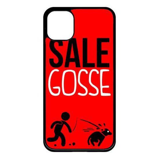 Coque smartphone - SALE GOSSE 6 - compatible avec Apple iPhone 11 - Plastique - bord Noir
