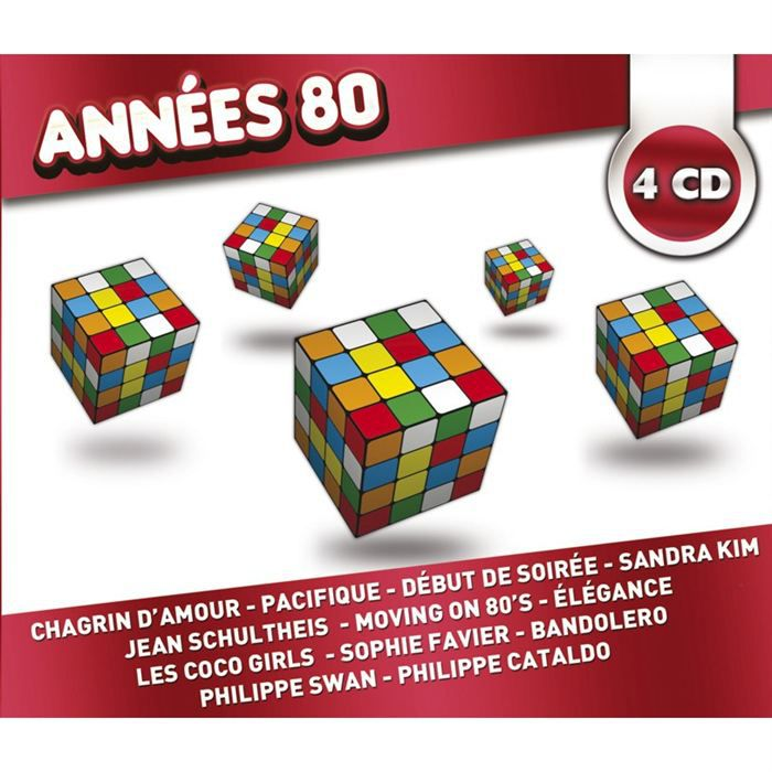 annees 80 collection 4 cd compilation achat cd cd compilation pas cher. Black Bedroom Furniture Sets. Home Design Ideas