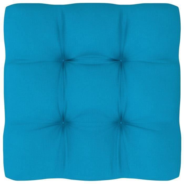 Fort-4513Excellent Coussin de canapé palette Coussins extérieur fauteuil Magnifique - Coussin Salon de Jardin Bleu 50x50x12 cm
