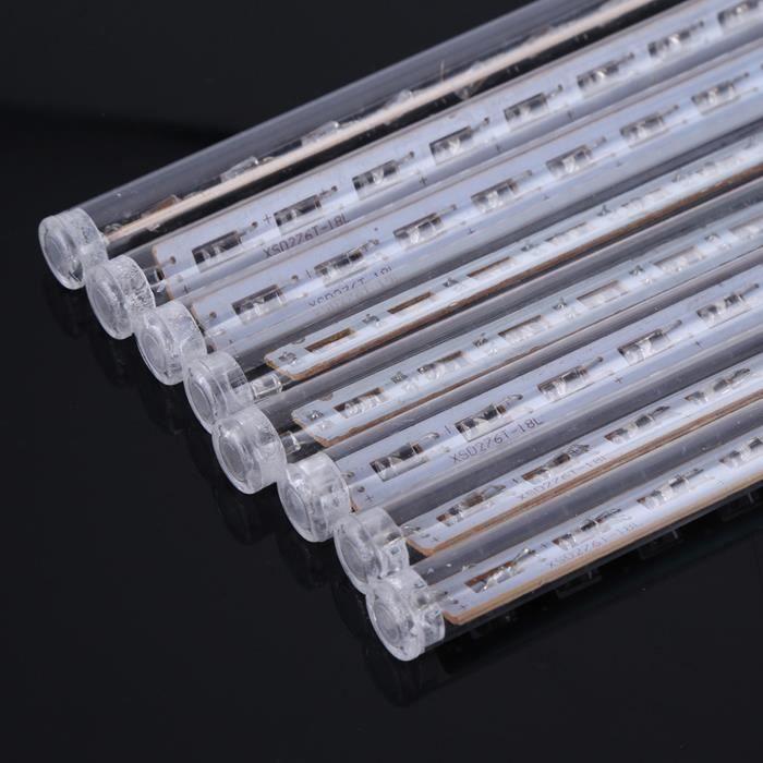 Cikonielf Lumières de tube 8 pièces / ensemble 30 cm météore tube de pluie lumières 144 LED lumineux chute de chaîne lampes